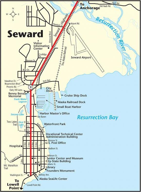 Map Of Seward Alaska Seward   Alaska Magazine Map Of Seward Alaska