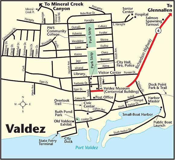 Valdez Map